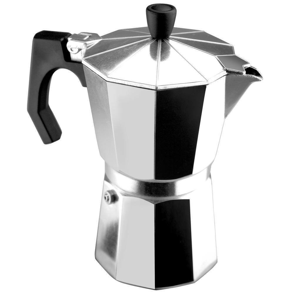 Kenia 9 Cups Aluminum Expresso Coffee Maker