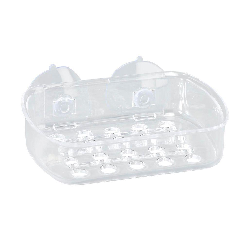Small Soap Dish with Suction in Clear