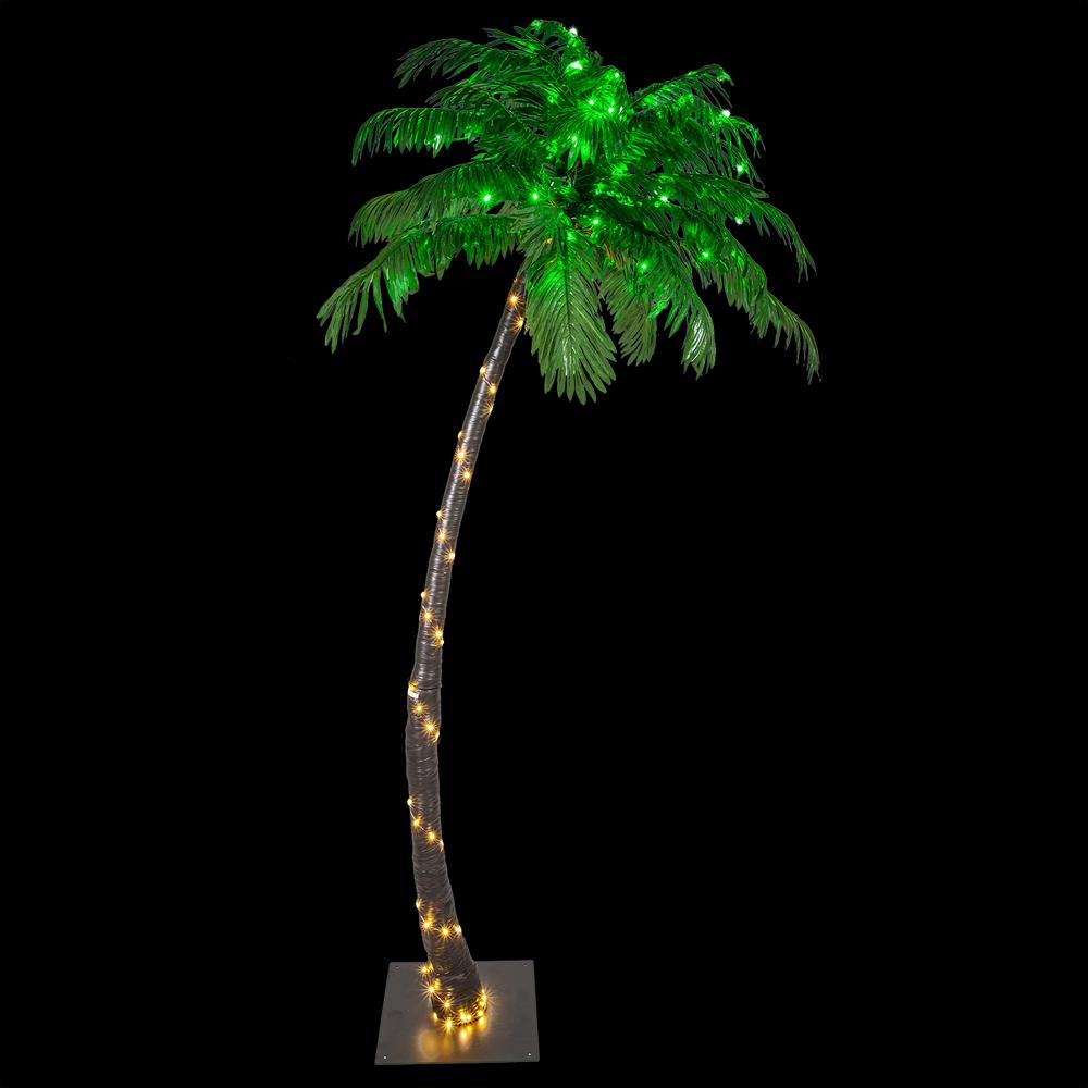 Pre Lit Curved Artificial Palm Tree