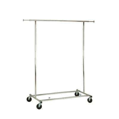 66 in. H x 24 in. W x 74 in. D Expandable Garment Rack in Chrome