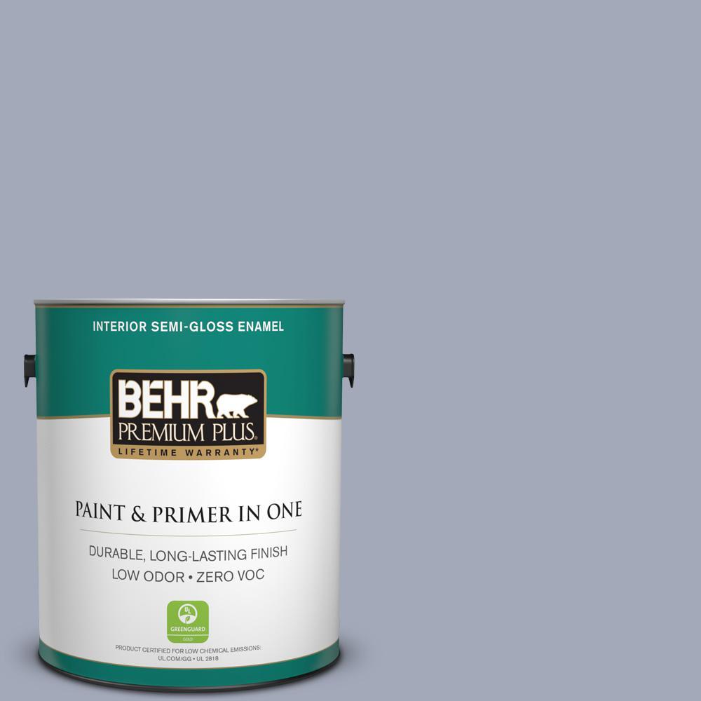 BEHR Premium Plus 1-gal. #610F-5 Ridge View Zero VOC Semi-Gloss Enamel Interior Paint