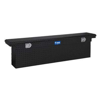 69.875 Gloss Black Aluminum Low Profile Crossbed Truck Tool Box