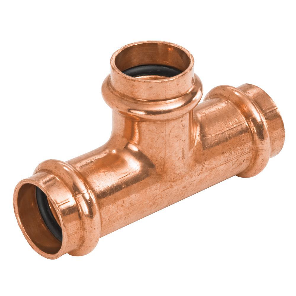 1 in. x 1 in. x 3/4 in. Copper Press x Press x Press Pressure Tee