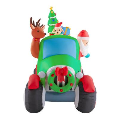 6 ft. Inflatable Santa's Vintage Tow Truck