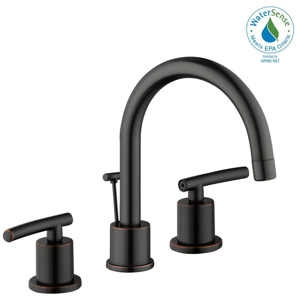Dorset 8 in. Widespread 2-Handle High-Arc Bathroom Faucet in Bronze