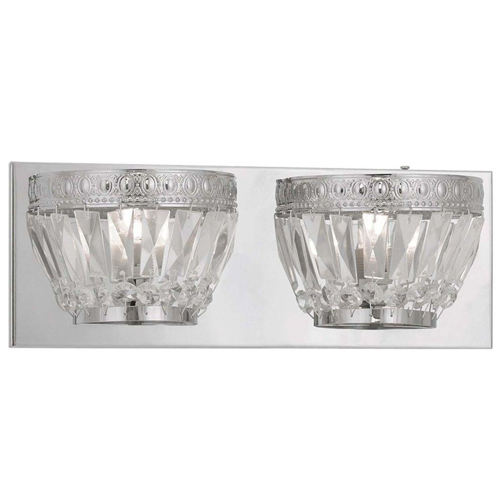 Filament Design Providence 2-Light Chrome Halogen Bath Vanity Light