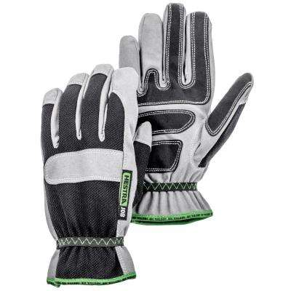 Anton Size 10 Black/Grey Synthetic Suede Glove