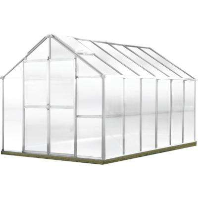 Growers Edition 8 ft. W x 12 ft. D x 7.6 ft. H Aluminum Greenhouse