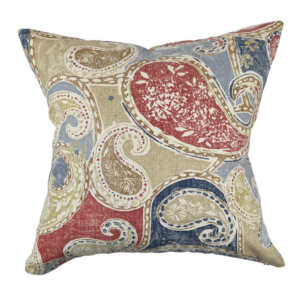 Vesper Lane Aboriginal Paisley Designer Throw Pillow