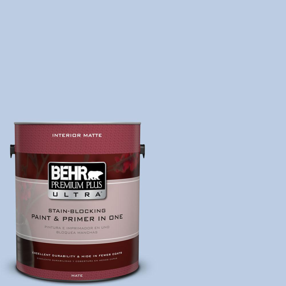 1 gal. #580C-3 Impressionist Sky Matte Interior Paint and Primer in