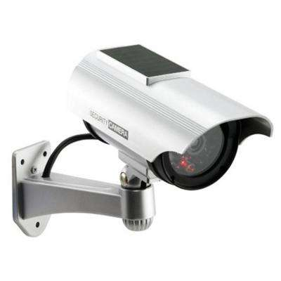 Solar Indoor/Outdoor Dummy Security Camera with LED