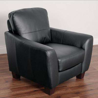 Jazz Black Bonded Leather Chair