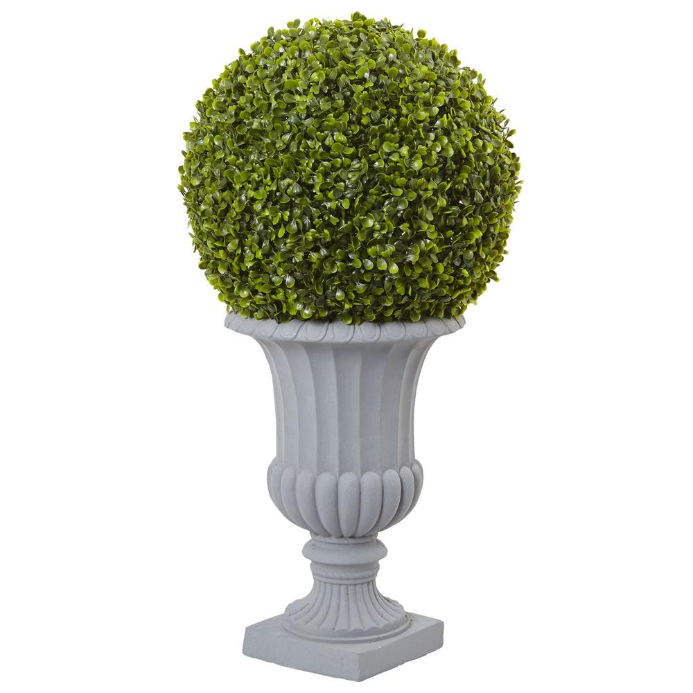 Nearly Natural 2.5 ft. Boxwood Topiary with Urn (Indoor/O...