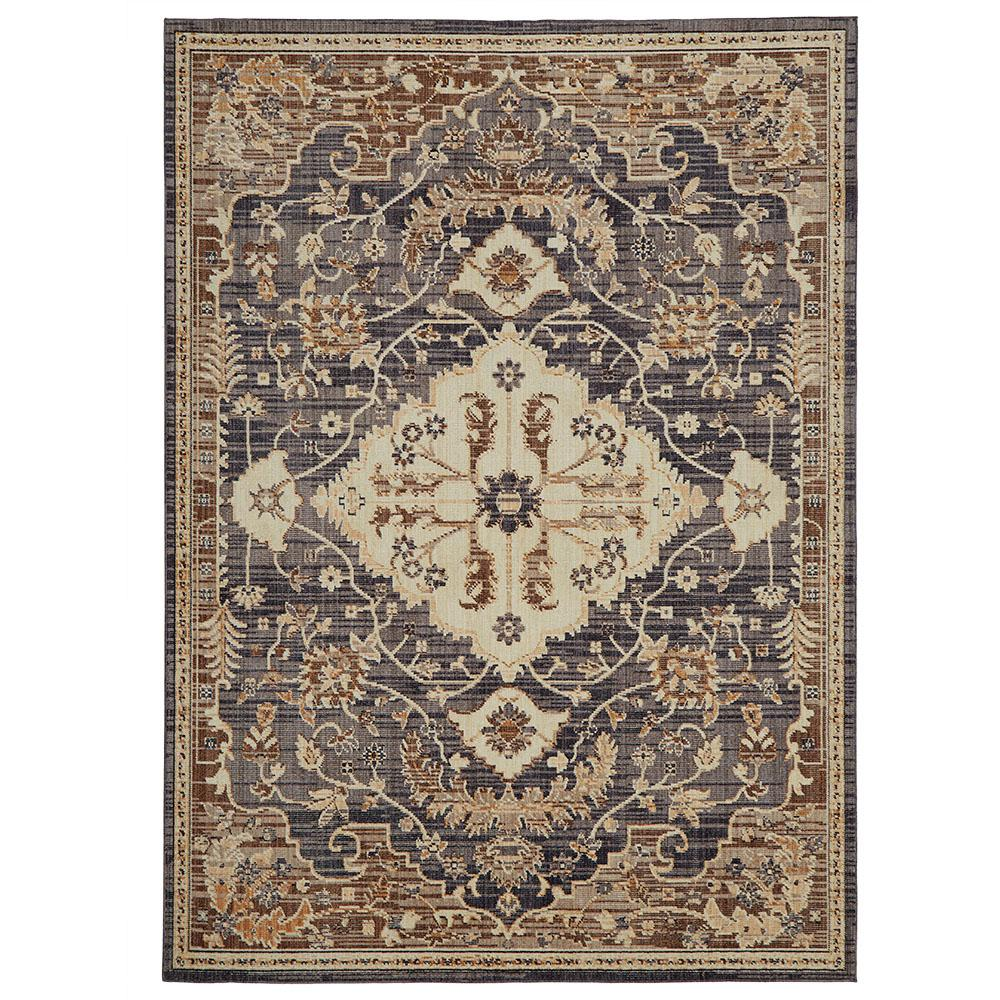 Home decorators collection livia blue beige 5 ft x 7 ft for International home decor rugs