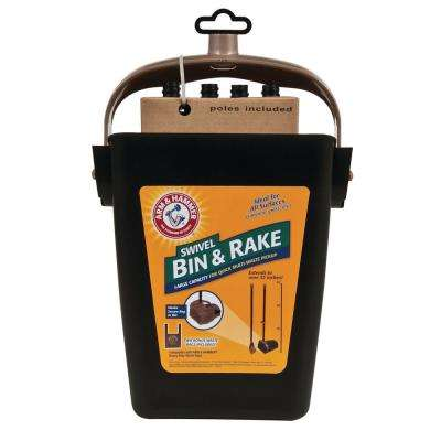 Swivel Bin and Rake