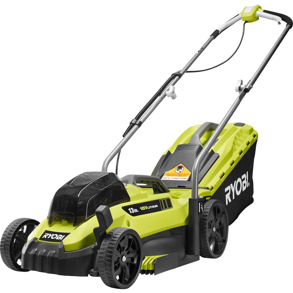 13 in. ONE+ 18-Volt Lithium-Ion Cordless Battery Walk Behind Push Lawn