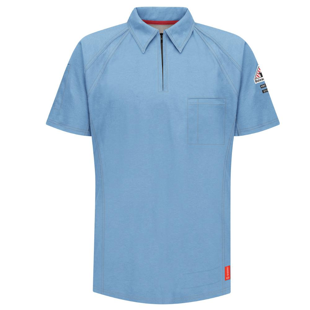 1e8ba4774a94 Bulwark IQ Men s 3X-Large Blue Short Sleeve Polo-QT10BL SS 3XL - The ...