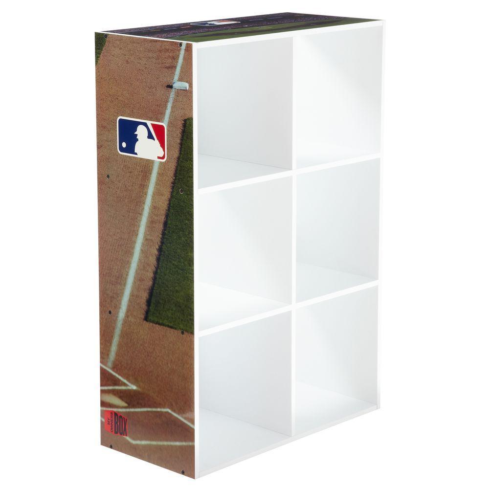MyOwnersBox MLB Cubeits 24 in. x 36 in. White 6-Cube Organizer