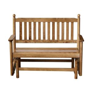 Hinkle Chair Company 2-Person Maple Wood Outdoor Patio Glider by Hinkle Chair Company
