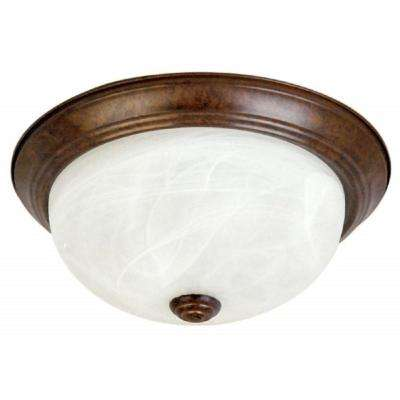 3-Light Dark Brown Flushmount