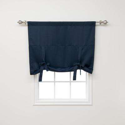 Basic 42 in. W X 63 in. L Drapery Panel in Navy