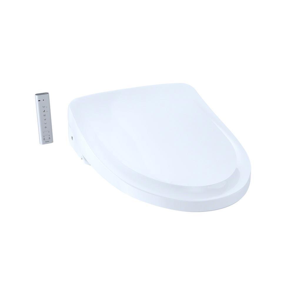 TOTO S500e WASHLET+ Electric Bidet Seat for T40 WASHLET+ Toilet with Classic Lid and eWater+ in Cotton White