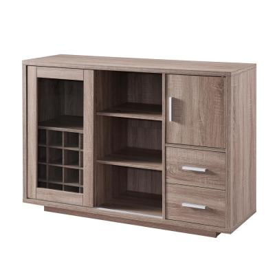 Begna 16-Bottle Dark Taupe Wine Cabinet