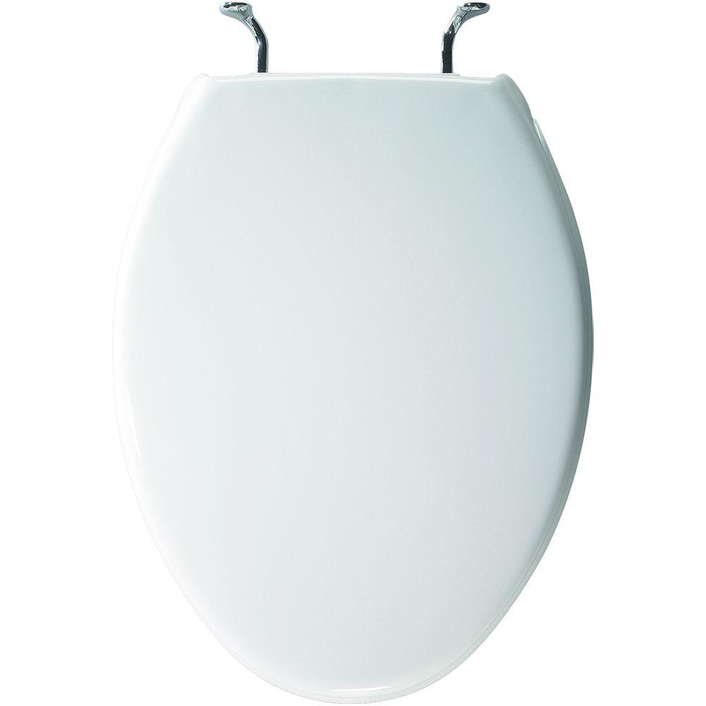 Case Elongated Closed Front Toilet Seat in White