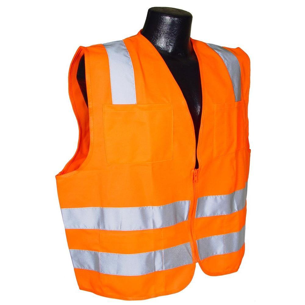 Std Class 2 Large Orange Solid Safety Vest