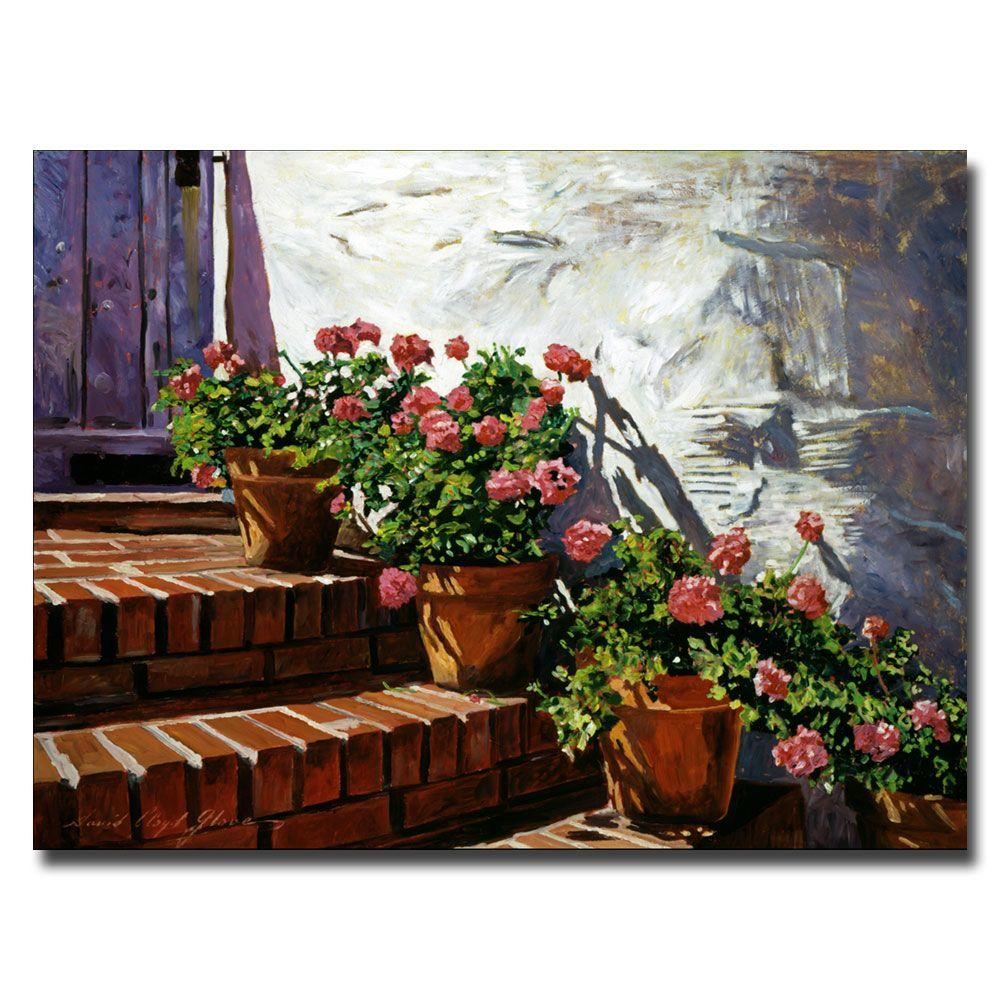 24 in. x 32 in. Geranium Steps Canvas Art