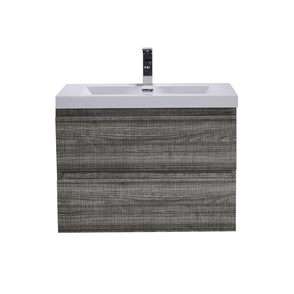 Foremost Keats 30 in. Laundry Vanity in White and Premium Acrylic ...