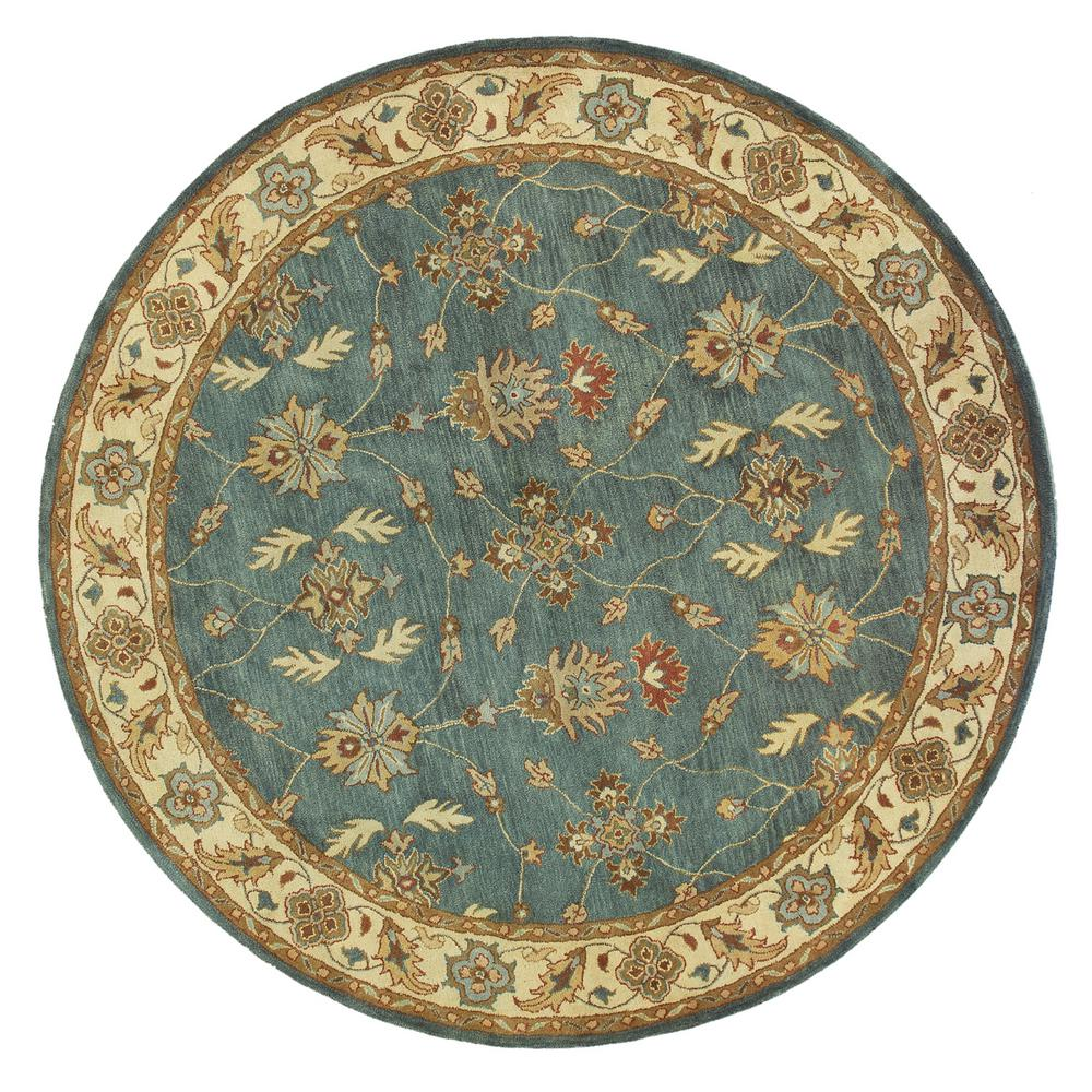 Charisma Blue/Ivory 5 ft. 3 in. Round Indoor Area Rug