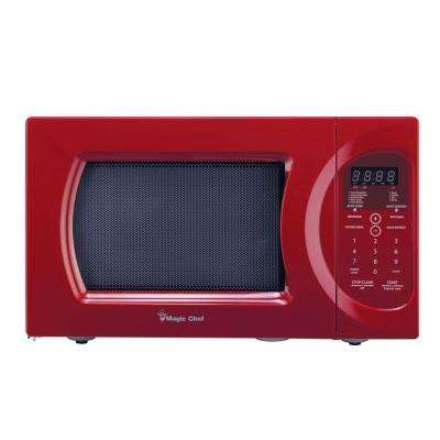 0.9 cu. ft. Countertop Microwave, Red