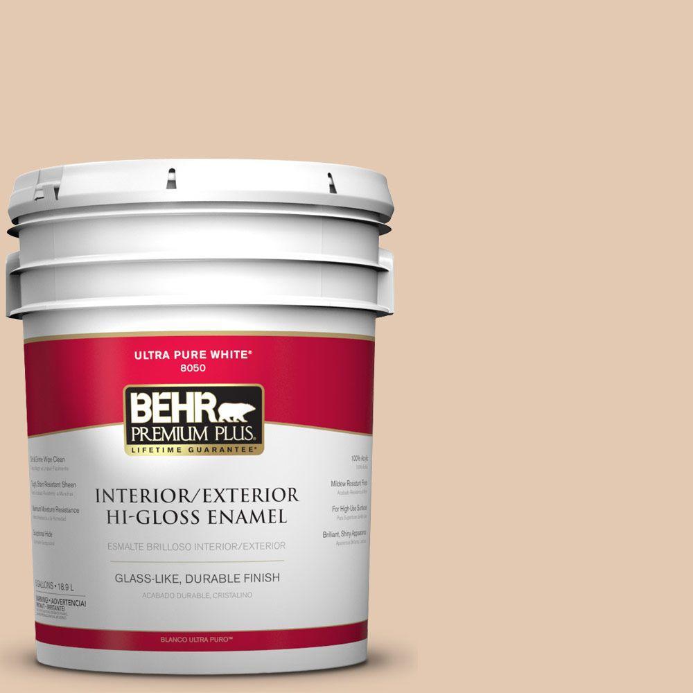 BEHR Premium Plus 5-gal. #S230-2 Mesquite Powder Hi-Gloss Enamel Interior/Exterior Paint