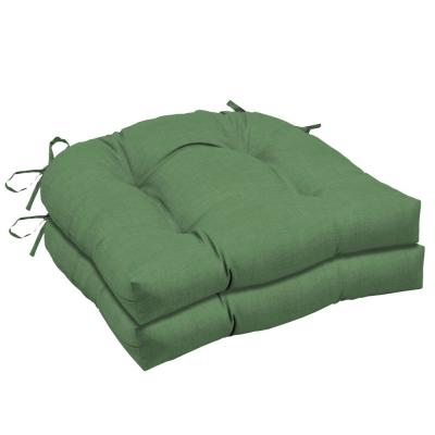 20 in. x 18 in. Moss Leala Texture Rectangle Outdoor Seat Cushion (2-Pack)