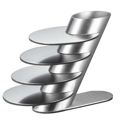Remy Stainless Steel Round Coaster Set with Holder (2-Pack)