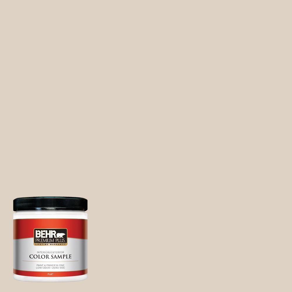 BEHR Premium Plus 8 oz. #PWN-42 Parisian Taupe Interior/Exterior Paint Sample