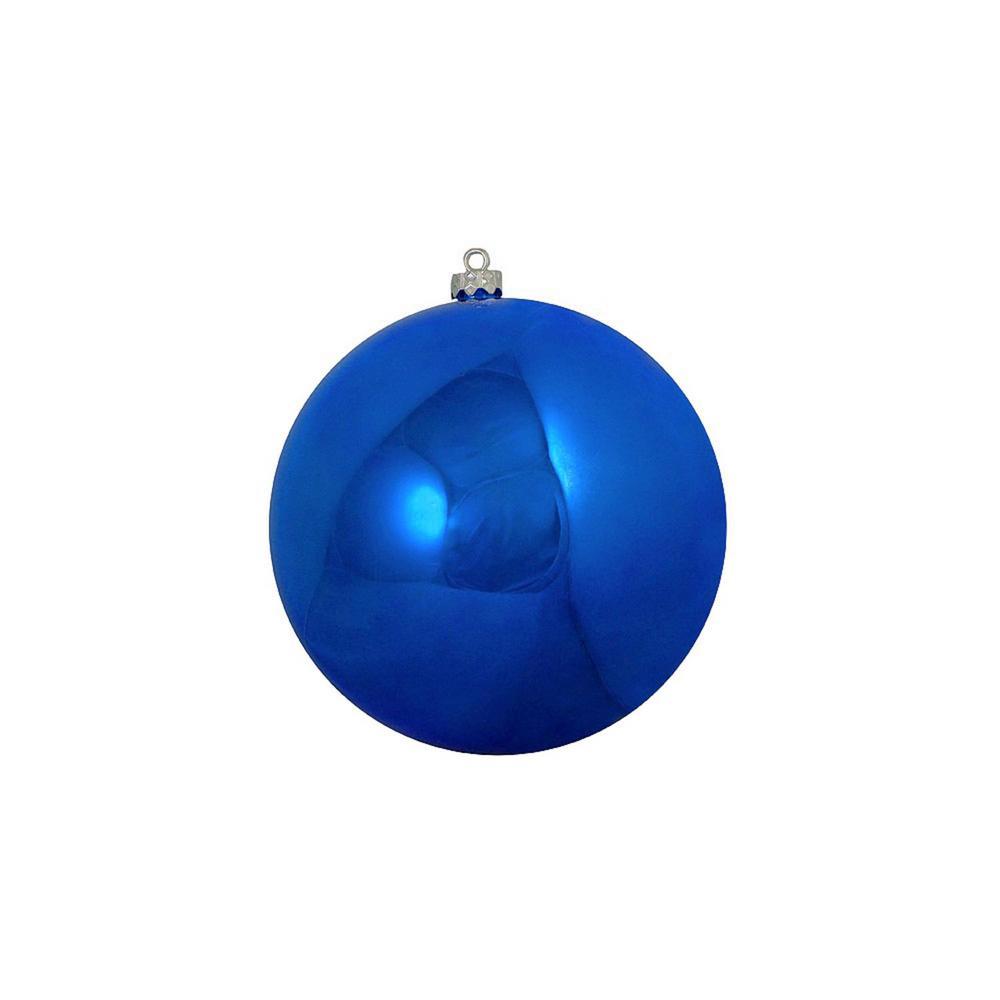 Shatterproof Shiny Lavish Blue UV Resistant Commercial Christmas Ball Ornament