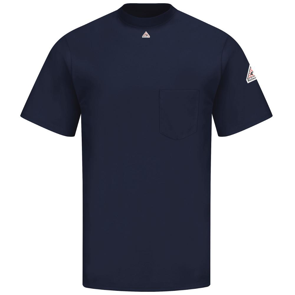 EXCEL FR Men's 2X-Large (Tall) Navy Short Sleeve Tagless T-Shirt