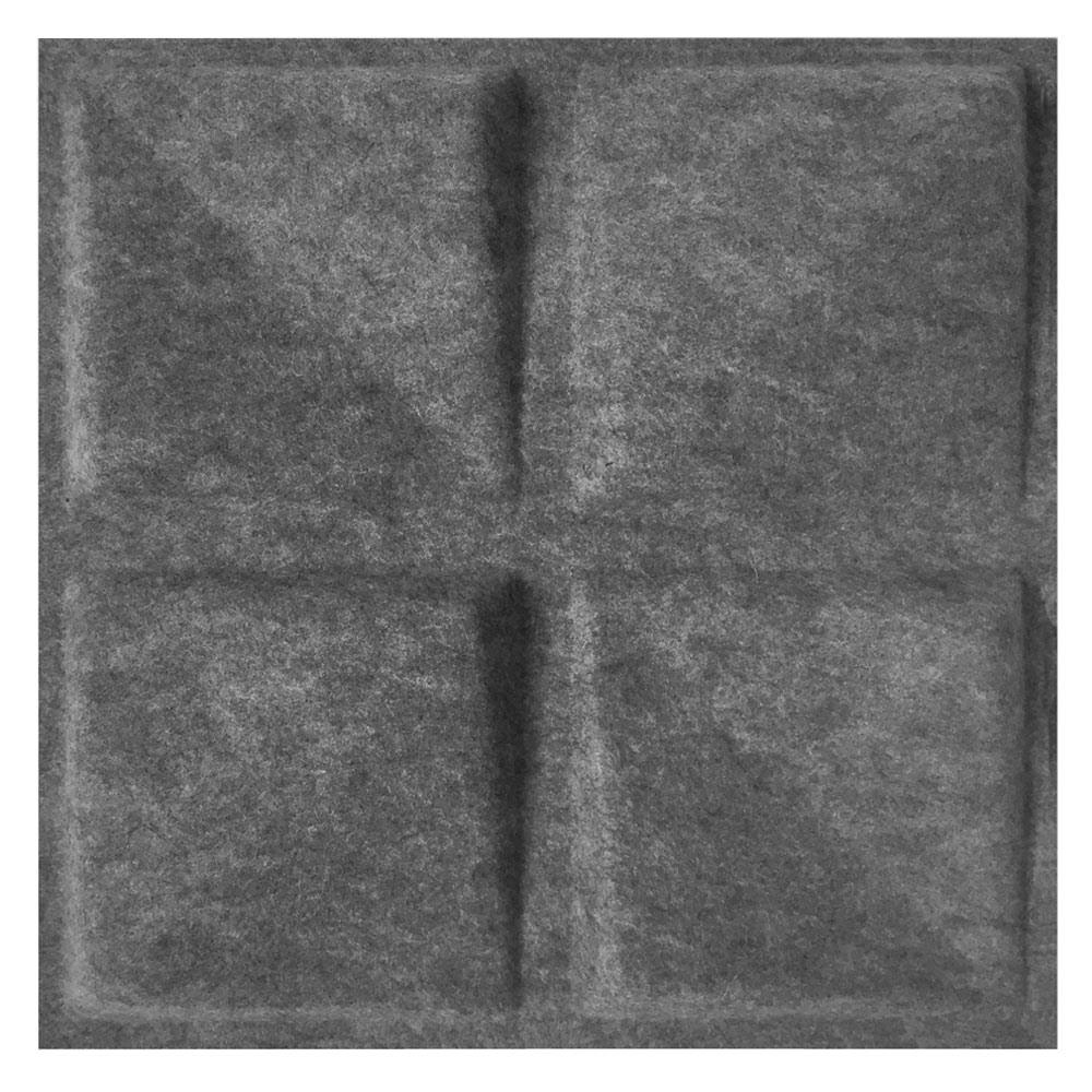 MIO FeltForms 24 in. W x 24 in. L x 2 in. H Grey Acoustic Insulation Quad Panels (4-Pack)
