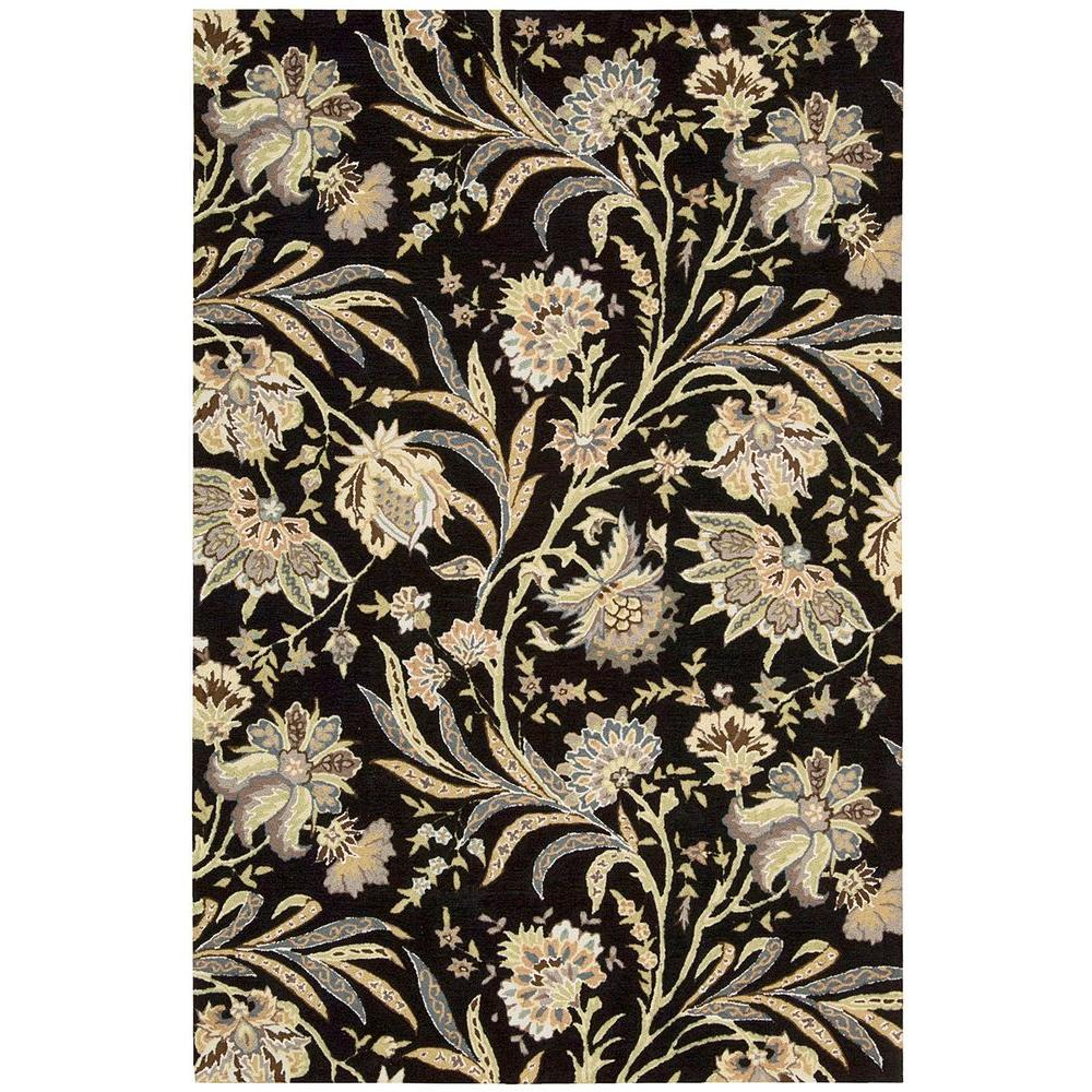 Overstock Area Rugs: Nourison Overstock Gatsby Black 8 Ft. X 10 Ft. 6 In. Area