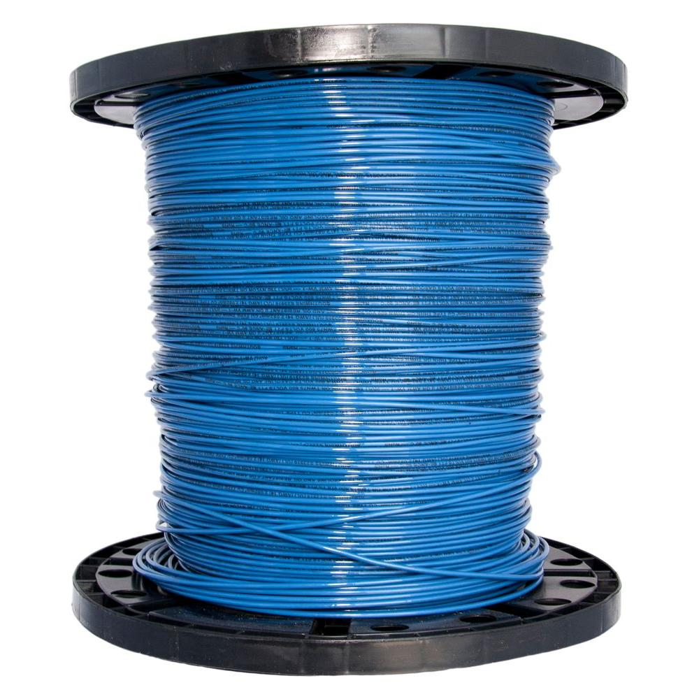 2500 ft. 14 Blue Stranded CU THHN Wire