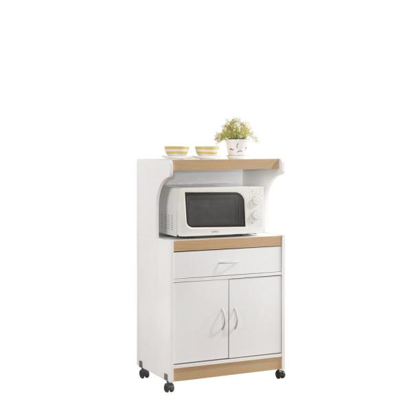 Microwave Cart With Storage Hik72 White