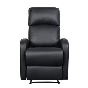 ARTIVA Black Faux Leather Slim Recliner-AF612PUB - The ...
