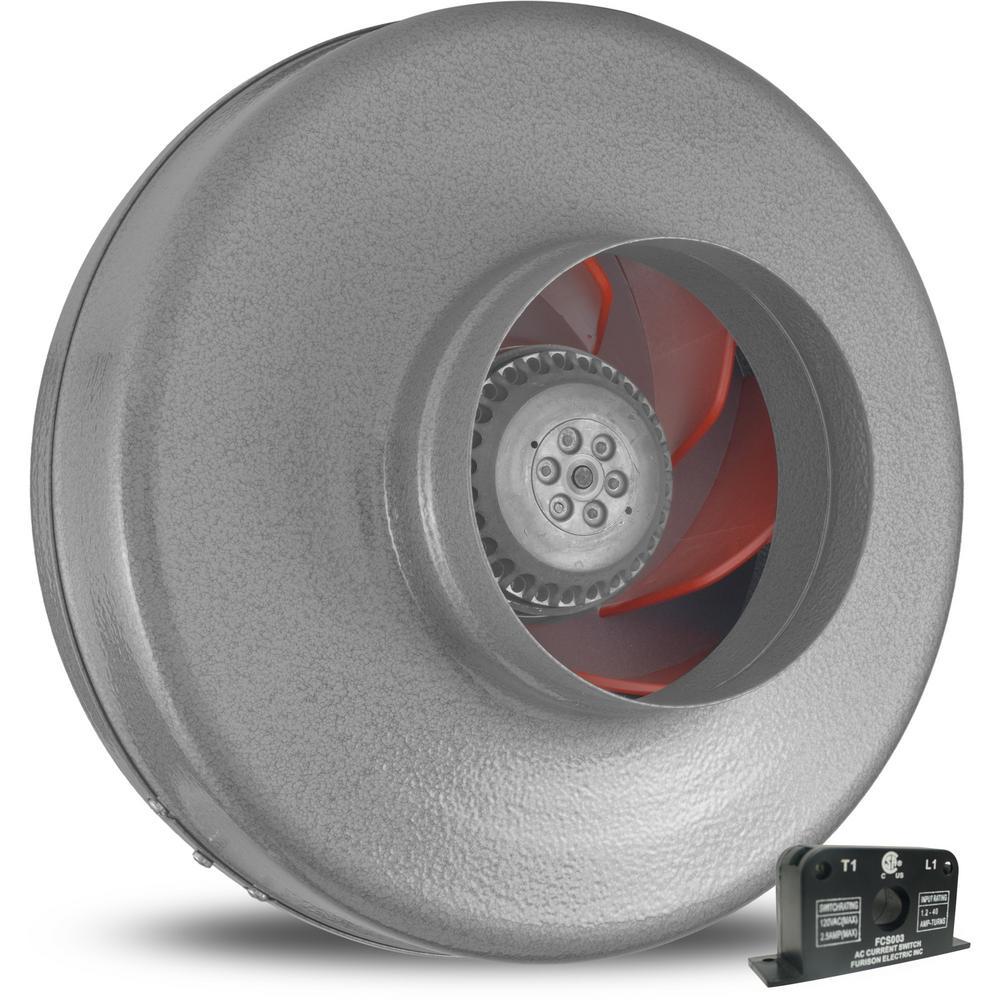 Vortex Powerfan 6 in. 497 CFM Inline Fan with Current Sensor