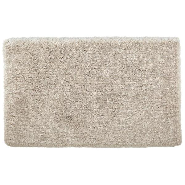 Biscuit 19 in. x 34 in. Non-Skid Cotton Bath Rug