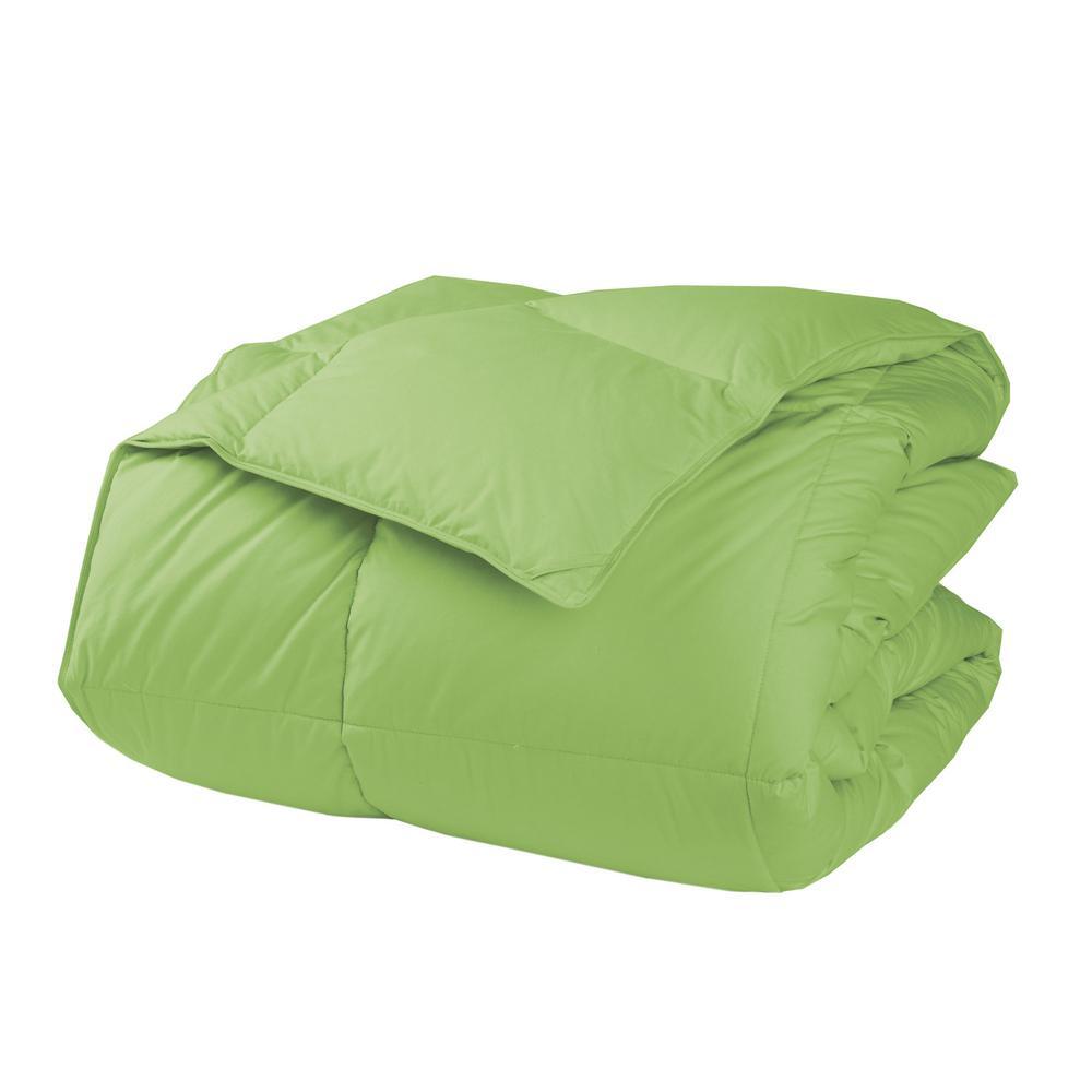 LaCrosse LoftAIRE Medium Warmth Bright Green Twin Down Alternative Comforter