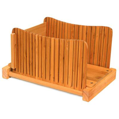 Bamboo Wood Compact Foldable Bread Slicer
