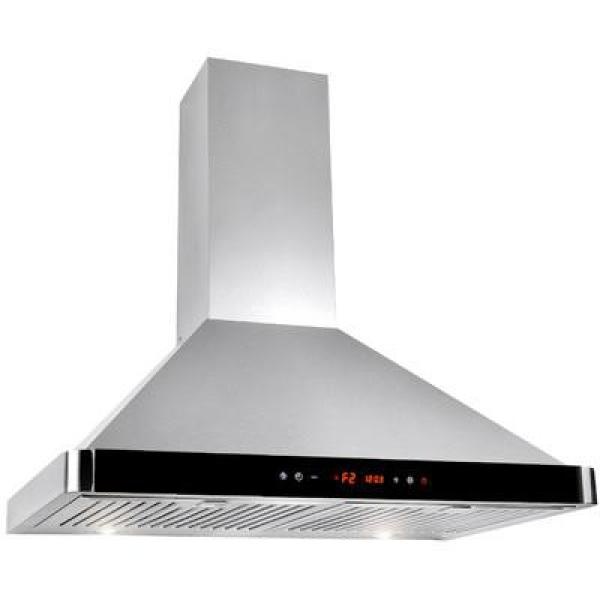 Winflo 30 In Convertible 520 Cfm Wall Mount Range Hood In Stainless Steel With Baffle And Charcoal Filters Wr003b30df The Home Depot