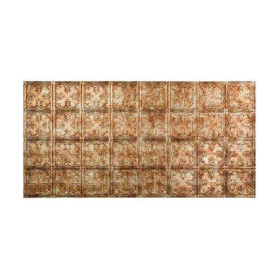 Traditional Style # 10 - 2 ft. x 4 ft. Vinyl Glue-Up Ceiling Tile in Bermuda Bronze